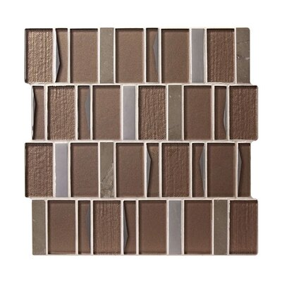 Twilight Rigel Random Sized Glass Mosaic Tile in Brown