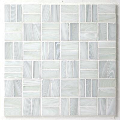 Antartic Kula 1 x 2 Glass Mosaic Tile in White