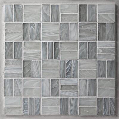 Antartic Sofia 1 x 2 Glass Mosaic Tile in Gray