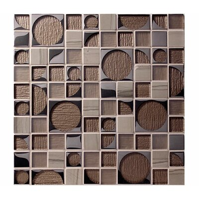 Bombshell Neutron Random Sized Glass Mosaic Tile in Brown