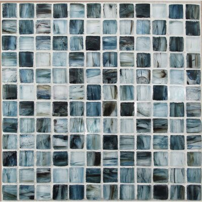 Royal 1 x 1 Glass Mosaic Tile in Blue