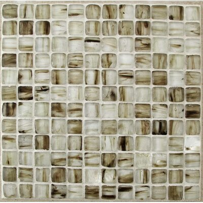 Caramel 1 x 1 Glass Mosaic Tile in Brown