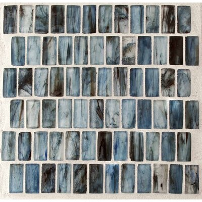 Royal 1 x 2 Glass Mosaic Tile in Blue
