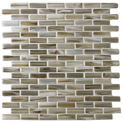 Kiln Powder 1 x 2 Glass Mosaic Tile in Brown