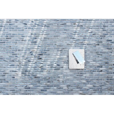 Kiln Sky 1 x 2 Glass Mosaic Tile in Blue