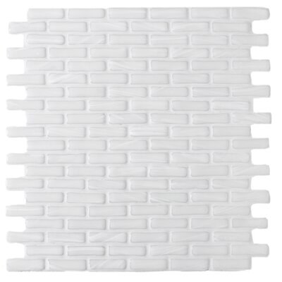Kiln Tawny 1 x 2 Glass Mosaic Tile in White