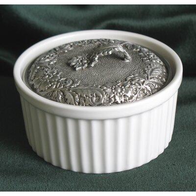 Ribbed Porcelain Accessory Box C1-1801JB