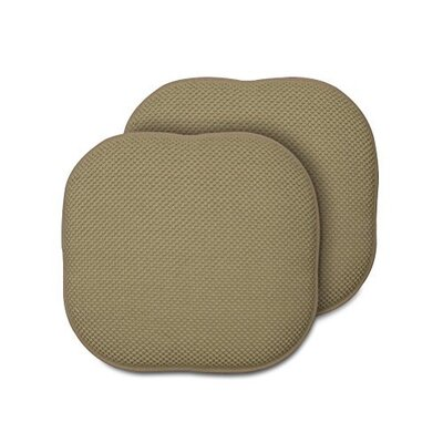 Memory Foam Chair Pad Fabric: Taupe