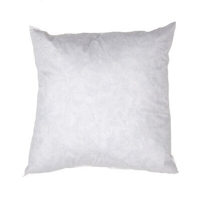 Super Soft Feather Pillow Insert Size: 19 H x 19 W