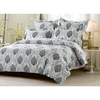 Chanelle Super Soft Reversible Duvet Cover Set Size: King/California King