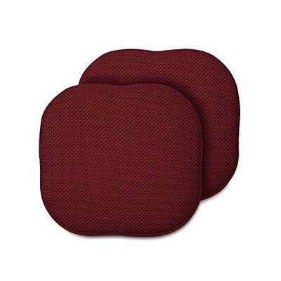 Memory Foam Chair Pad Fabric: Wine