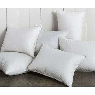 Super Soft White Square Feather Pillow Insert