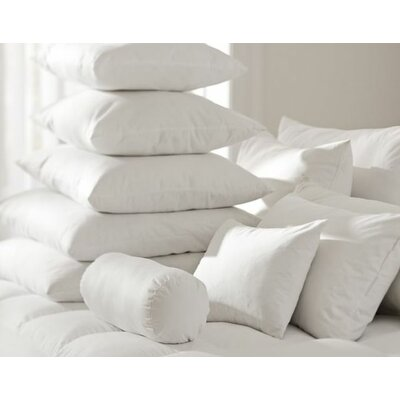 White Pillow Insert Size: 17 H x 17 W