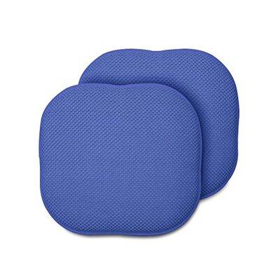 Memory Foam Chair Pad Fabric: Blue