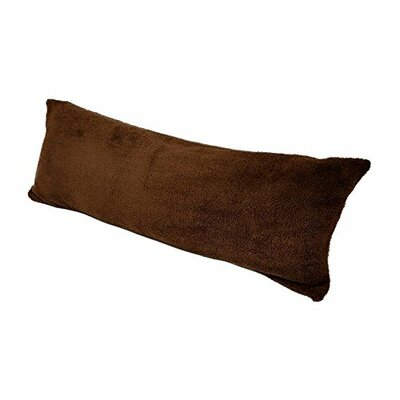 Body Pillow with Super Soft Sherpa/Microplush Zippered Pillowcase Color: Chocolate