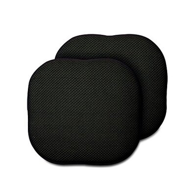 Memory Foam Chair Pad Fabric: Black