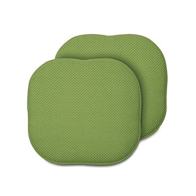 Memory Foam Chair Pad Fabric: Green