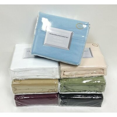 Asherman 1500 Wrinkle Resistant Super Soft Waterbed Sheet Set Color: Black