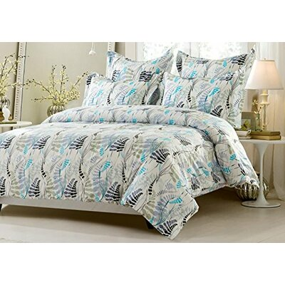 Graham Floral Jubilee Reversible Duvet Cover Set Size: Full/Queen