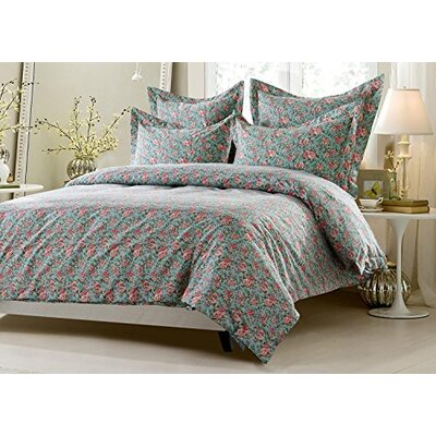Carline Floral Super Soft Reversible Duvet Cover Set Size: Full/Queen