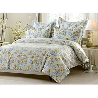 Carline Floral 5 Piece Reversible Duvet Cover Set Size: Full/Queen