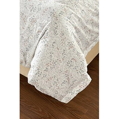 Carline Floral Vine Reversible Duvet Cover Set Size: Full/Queen