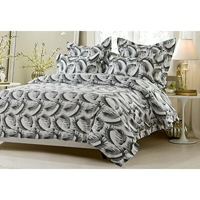 Armada Feather Design Reversible Duvet Cover Set Size: King/California King