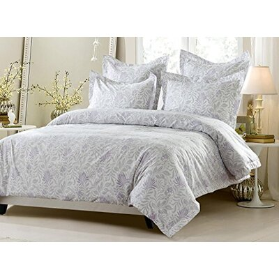 Eilene Floral Reversible Duvet Cover Set Size: Full/Queen