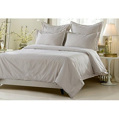 James Striped Reversible Duvet Cover Set Size: Full/Queen