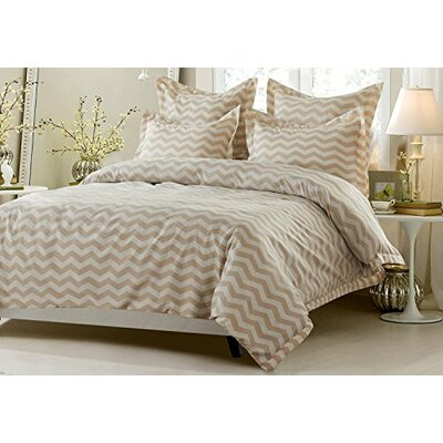 James Zig Zag Reversible Duvet Cover Set Size: King/California King