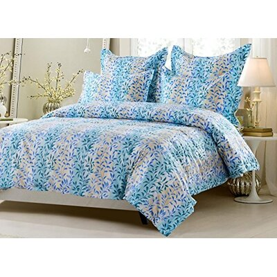 Graham Floral Soft Reversible Duvet Cover Set Size: Full/Queen