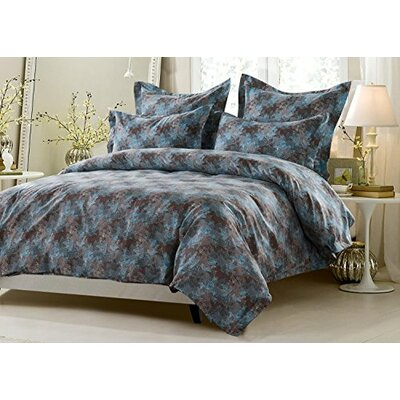 Carrol Floral Reversible Duvet Cover Set Size: Full/Queen