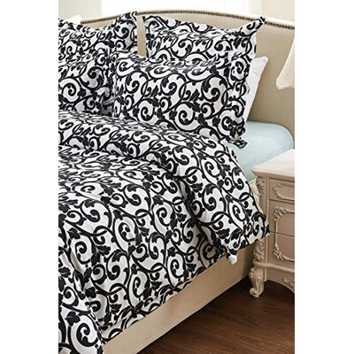 Graham Swirl Design Reversible Duvet Cover Set Size: King/California King