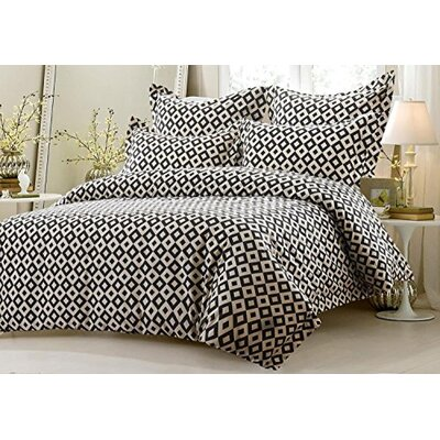 Graham Squares 5 Piece Reversible Duvet Cover Set Size: Full/Queen