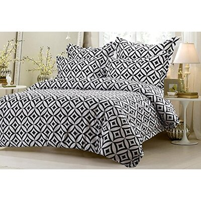 Graham Diamond Circle Reversible Duvet Cover Set Size: King/California King
