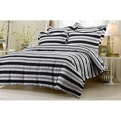 Graham Striped Reversible Duvet Cover Set Size: King/California King