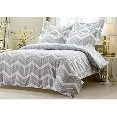 Graham Zig Zag Reversible Duvet Cover Set Size: Twin