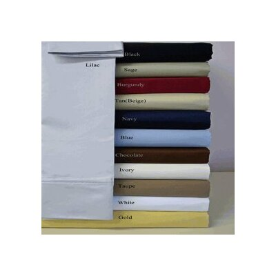 Webster 1500 Attached Super Soft Egyptian-Quality Cotton Sheet Set Size: Queen, Color: Black