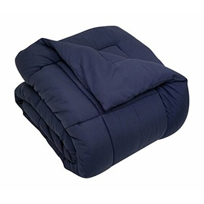 All Season Down Alternative Comforter Size: King, Color: Navy