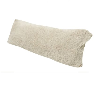 Ivory Body Pillow with Super Soft Sherpa/Microplush Zippered Pillowcase