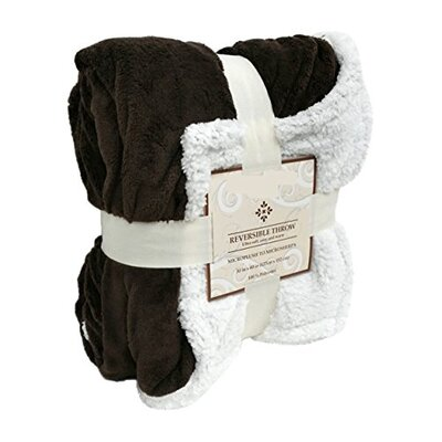 Wiley Sherpa/ Microplush Throw Color: Chocolate