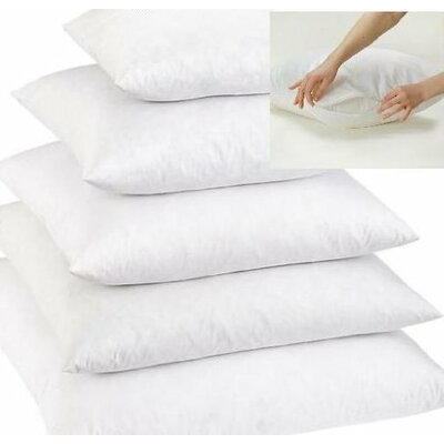White Soft Feather Pillow Insert