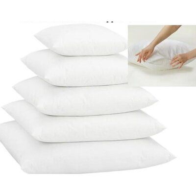 White Zippered Pillow Insert with Protectors