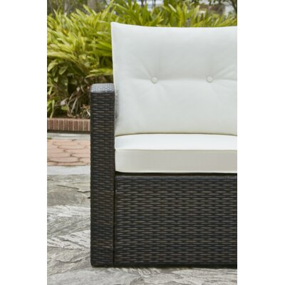 Crosson 4 Piece Outdoor Sofa Seating Group with Cushion