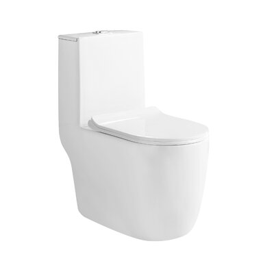 Agrius Dual Flush Elongated One-Piece Toilet