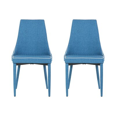 Camino Upholstered Dining Chair Upholstery Color: Dark Blue