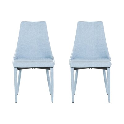 Camino Upholstered Dining Chair Upholstery Color: Light Blue