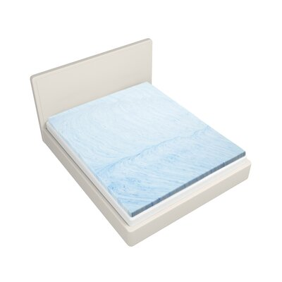 Isotonic Swirl 3 Gel Memory Foam Mattress Topper Size: Full