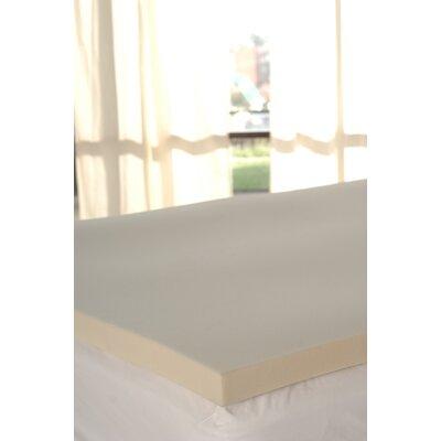 2 Memory Foam Mattress Topper Size: King