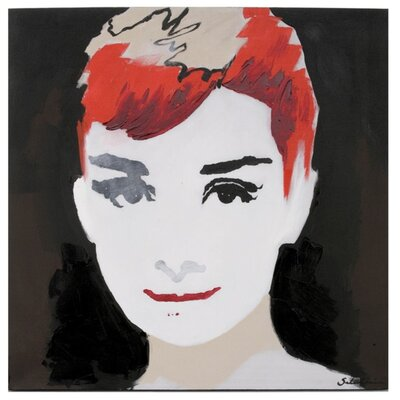 'Audrey' Oil Painting Print on Canvas